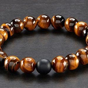 Men's Natural Healing Stone Stretch Bracelet